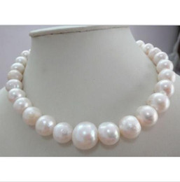 Wholesale South Sea Huge Pearl - HUGE 13-15MM SOUTH SEA GENUINE WHITE PEARL NECKLACE 14K