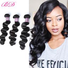 Wholesale Cambodian Loose Waves - BD Loose Wave Human Hair Extensions 100 Human Hair Virgin Cambodian Hair 3 4 Bundles One Set