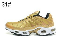 Wholesale Ups Tuning - 2017 new TN Plus QS Metallic Gold Bullet University Red men running shoes top quality tn 97 95 Tuned 1 Athletic running sneakers