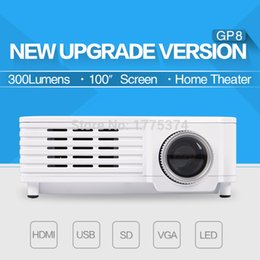 Wholesale Led Projecteur Lcd - Wholesale-New arrival Mini Projector HD LCD Home theater Game Beamer Projecteur LED Projektor input AV in USB VGA HDMI SD