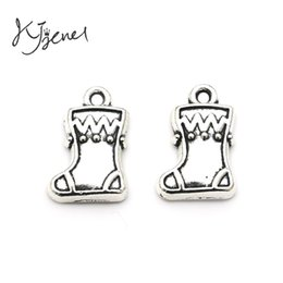 Wholesale Boots Charms Pendants - Antique Silver Plated Zinc Alloy Christmas Boots Charms Pendants fit Pandora Bracelet Necklace Jewelry Making Findings Accessories DIY