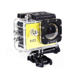 Wholesale Mini Helmet Hd Camera - Wholesale-Outdoor Mini Camcorder HD 720P Sports DV Mini Camera HD 30M Go Waterproof Pro Style Helmet Bike Car CAM Monopod 32GB Sd Card