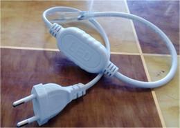 2019 conectores de arame Acessórios para 110 V 220 V 2835 SMD 120 LEDs 6 W LEVOU Neon Rope Light LEVOU Luz de sinal de néon Da Cerveja luz flexível tira à prova d 'água