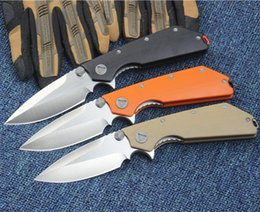 Wholesale Microtech Folding Knives - Microtech D.O.C death of contact D2 58-60HRC 3 COLORS folding Survival Camping Knife Outdoor Knife Gift Knife 1pcs