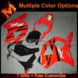 Wholesale Cbr954rr Plastics - 23colors+8Gifts red flames motorcycle cowl for HONDA CBR954RR 2002-2003 CBR954 RR 02 03 ABS Plastic Fairing