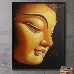 Wholesale Handmade Paint Canvas Buddha - Handmade Canvas Wall Art Religion Buddha Oil Painting On Canvasr Modern Home Decoration Art Picture(No Frame)