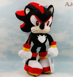 Wholesale Doll Hedgehog - Retail 29CM Cartoon Sonic The Hedgehog Plush Stuffed Toy Doll Black Shadow Sonic Doll With Suction Cup 1PCS