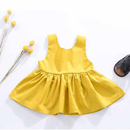 Wholesale Old Girls Dresses - Everweekend Baby Girls Ruffles Backless Cotton Dress Infant Summer Cotton Princess Party Dress for 0-2 years old