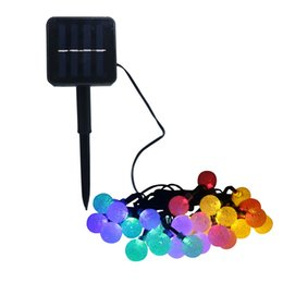 Wholesale String Lights Fence - 30Led 20 LED Solar Powered String Light Outdoor Crystal Ball Fairy Lights for Garden Fence Christmas Decoration