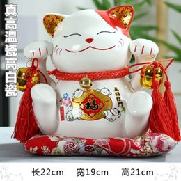 Wholesale House Piggy Bank - selling the new Lucky Cat large money piggy bank opened Five blessings descend upon the house decoration, wedding gift