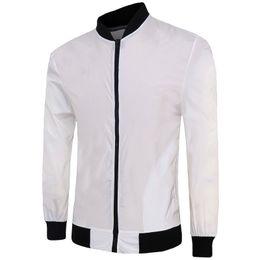Wholesale Wholesale Zipper Jackets - Wholesale- Mens Fashion Long Rid Sleeve Zipper Mandarin Collar Slim Fit Solid Standard 10 Colors Jacket 14JK73