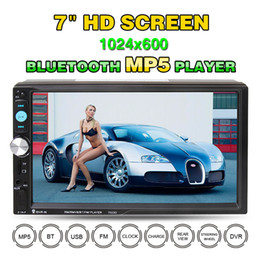 Wholesale Car Aux Tv - 7 Inch 2 DIN Bluetooth HD Car Stereo Audio MP5 Player with Card Reader FM Radio Fast Charge Support USB   AUX   DVR CMO_21Y