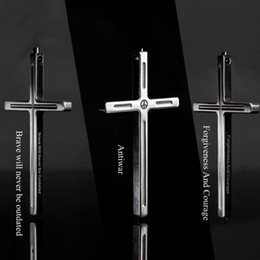 Wholesale Tungsten Cross Necklaces - Titanium TC4 Tactical Cross Pendant Necklace with Tungsten End for Emmergency Hammer   Personal Defense