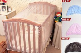 Wholesale Mosquito Nets For Cots - Wholesale-Baby Crib Cot Insect Mosquitoes Wasps Flies Net for Infant Bed folding Crib Netting Child Baby mosquito nets Crib Netting