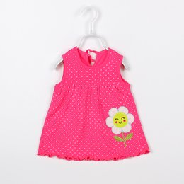 Wholesale Baby Clothes For Cheap - Wholesale- Baby Dresses Girls The Cotton Dresses For Babies 2016 Hot Sale Children Dress Cheap Baby Girls Clothing Free Shipping