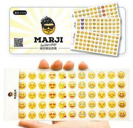 Wholesale kids sticker books - 12 Pcs Set Apple Funny Emoji Expression Stickers 3 Version Hand Book Diary Stickers Decorative Phone Paster Baby Bedroom Wall Decals