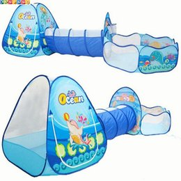 Australia Wholesale-Ocean Sence 3pc Children Play Tent Crawl Tunnel Ball Pool Kids Toy Tents  sc 1 st  DHgate.com & Large Kids Play Tents Australia | New Featured Large Kids Play ...