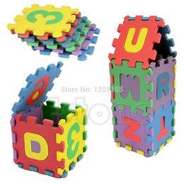 Wholesale Mat Educational Puzzle - Wholesale- New Kid Educational Toy 36Pcs Mini Size Puzzle Alphabet A-Z Letters Numeral Foam Mat