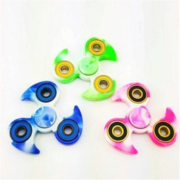 Wholesale Focus Wheels - Newest Wheels Hand Spinner Tri HandSpinner Triangle Camo Fidget Desk Focus Toy EDC For Kids Adults Finger Spinning Top Decompression Toy