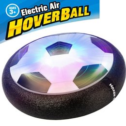 Wholesale Kids LED Air Power Soccer Football Boys Girls Sport Children Toys Training Football Indoor Outdoor Disk Hover Ball Game with Foam Bumpers