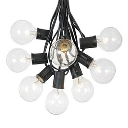 Wholesale Hanging Christmas Lights Outdoors - String Lights with 25 G40 Globe Bulbs UL listed for Indoor Outdoor Commercial Outdoor Hanging Umbrella Garden Patio Lamp Lights