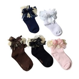 Wholesale Girls Socks Years Old - Baby Lace Floral Socks For 1-10 Years Old Children Kids Cotton Baby Girls Princess Flowers Socks