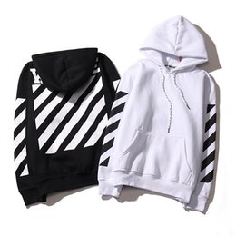 Wholesale Exo Pullover - Hot Real Off White Hoodie With the Off-white Tags Exo GD Religious Fleece Hoodie Sweatshirts Cotton Hoodies Black White Colors W293