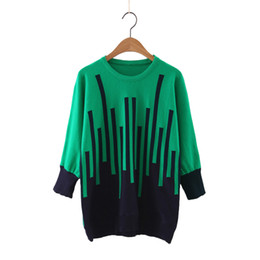 Wholesale Musical Sleeve - Wholesale-Women sweet musical note knitted pullover long sleeve warm sweaters autumn winter female streetwear tops 3 colors SW1031