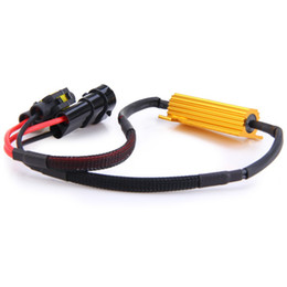 Wholesale Hyper Led - 50W Car LED Turn Singal Resistor for BMW Audi H8 H11 Connector Interface Hyper Flashing Indicator Driving Safety Device