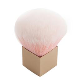 Wholesale Loose Powder Handle Brush - Wholesale-New Makeup Brush Large Pro Loose Powder Foundation Blush Brush Portable Metal Handle Makeup Tools