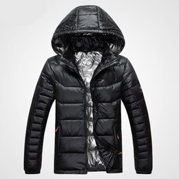 Wholesale Down Feather Clothing - New Arrival Autumn And Winter Men's Down Jacket Solid Colors 90% White Duck Down Hooded Thick Clothing Male Casual Zipper Coats 616