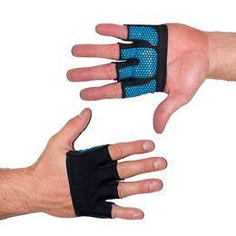 Guantes para fitness online-Inicio Fitness Levantamiento de pesas Guantes Entrenamiento Apretones Perfecto para Mujeres Hombre Crossfit Entrenamiento WODS Culturismo de silicona Empuñadura Palm