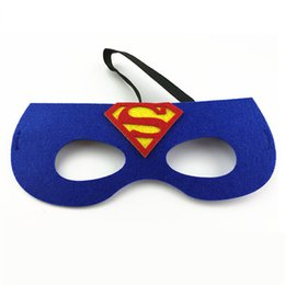 Wholesale Batman Costume Game - Christmas mask superman Spider Man Iron Man Batman simple Masker for kids Child Role Cosplay game Masquerade masque costume ball