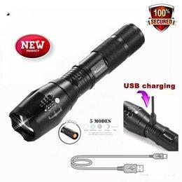 El nuevo AloneFire G700-U XM-L T6 CREE con zoom CREE LED Linterna impermeable usb Recargable luz de la antorcha para 18650 batería recargable o AAA desde fabricantes