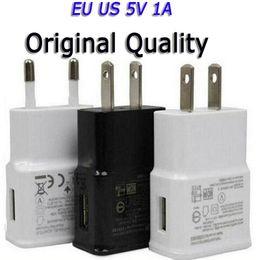 2019 enchufe uk principal Enchufe de los EEUU de la UE rápida USB cargador USB cargador de pared Adaptador Inicio 1A 100V-250V para Iphone X 8 7 Samsung S6 S7 S8 Tablet
