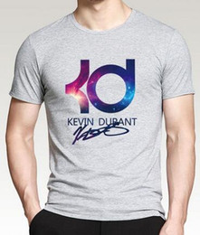 Wholesale Purple Mma Shorts - Plus size Kevin durant kpop mma t shirt men's hiphop Mma fashion brand clothing casual letter KD tshirt homme summer fitness