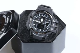 Wholesale Gift Boxes For Belts - GA1100+G box relogio men's sports watches, LED chronograph wristwatch, military watch, digital watch, good gift for men & boy, dropship