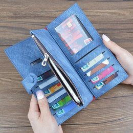 Wholesale Denim Phone Cases - universal luxury wallet 4.7 phone case for iphone7 iphone 7 6 6s galaxy s5 s7 S8 Denim leather pouch cover case zipper bag DHL free GSZ310