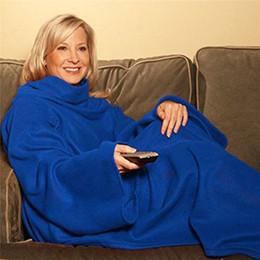 Wholesale adult snuggie blanket - Super Soft Fleece SNUGGIE Blanket Wearable Sleeve Blanket Keep Wearable Sleeve Blanket Keep You Warm And Your Hand 4Colors