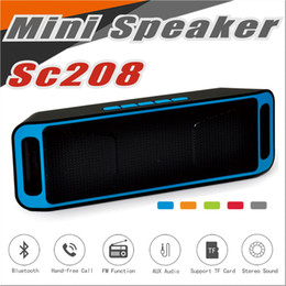 Wholesale Tablet Subwoofer - SC208 Wireless Bluetooth Speakers wireless mini speaker portable music Bass Sound Subwoofer Speakers for Iphone Smart phone and Tablet PC
