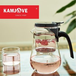 Wholesale Brew Heat - free shipping Kamjove new arrival elegant cup tea cup flower tea pot heat-resistant glass tea set brewing device glass teapot