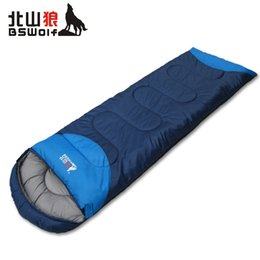 Wholesale Bag Thickness - Wholesale- 4 kinds of thickness thermal sleeping bag autumn and winter envelope hooded outdoor Camping & Hiking adult Sleeping Bags