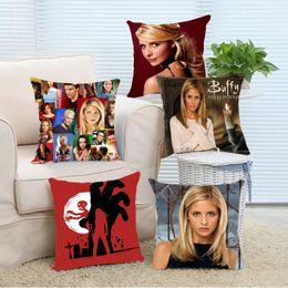 Wholesale Buffy Vampire Slayer - Wholesale- Pillow Case Hot Sale Popular Hunter Sarah Michelle Gellar in TV Series Buffy the Vampire Slayer Pillowcase Cover Custom Made Su