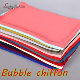 Wholesale Shawls Chiffon Plain - High Quality Plain Bubble Chiffon Print Solid Color Shawls Wrap Headband Beach Popular Hijab Summer Beach Shawl Muslim Scarves Scarf