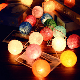 Wholesale Party Tent Lights - Wholesale- 2m Colorful Childre Kids Baby Room Led Lighting Toy Tent Light 20 Ball Festival Wedding Party Decoration Lighting Drop Shipping