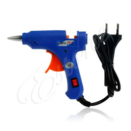 Wholesale wholesale glue gun sticks - New 20W Electric EU Plug SD-E Hot Stick Heater Trigger Repair Tool Melt Glue Gun