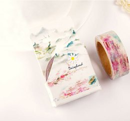 Wholesale New Scrapbooking Supplies - Wholesale- 2016 1Box New 1.5CM Wide Land of Pleasure Washi Tape DIY Scrapbooking Sticker Label Masking Tape School Office Supply H1471