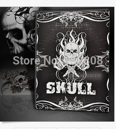 Wholesale Wholesale Tattoo Books - Wholesale- TB-267 A4 Skulls Skeleton Design Tattoo Art Book Flash Sketch Tattoo book 38pages Selected free shipping