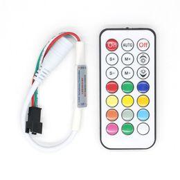 Wholesale Led Pixel 2811 - DC 5-24V 21 key IR led controller for strip WS2811 WS2812B TM1804 TM1809 INK1003 1903 2811 IC pixel module lights