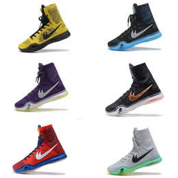Wholesale Kb Shoes Elite - 2017 kobe 10 Elite Weaving Retro Mens Basketball Shoes for Top Quality KB X High Training Sneakers Size 7-12 Free shipping